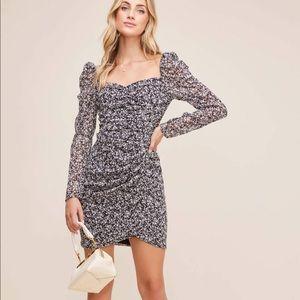 Sweetheart Ruched Puff sleeve mini dress